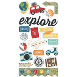 Chipboard Stickers-Travel Notes-Simple Stories