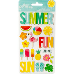 Sunshiny Days Chipboard Stickers -Pebbles