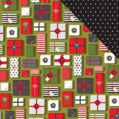 Christmas Morning 12x12 Paper-American Crafts Deck The Halls