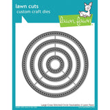 Large Cross Stitched Circles Stackables Dies-Lawn Fawn