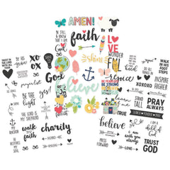 Faith Clear 4x6 Stickers-Simple Stories