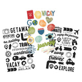 Clear Stickers-Travel Notes-Simple Stories