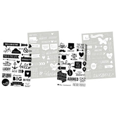 Messages Clear Stickers-Simple Stories Sn@p DIY