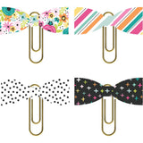 Paper Bow Clips-Simple Stories Oh Happy Day