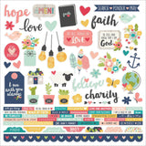 Faith Combo Cardstock Stickers-Simple Stories