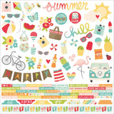 Summer Days Combo Cardstock Stickers-Simple Stories