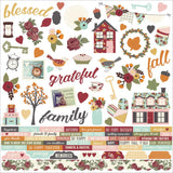 Vintage Blessings Combo Cardstock Stickers-Simple Stories