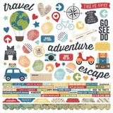 Combo Cardstock Stickers-Travel Notes-Simple Stories