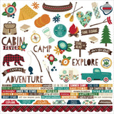 Cabin Fever Combo Cardstock Stickers-Simple Stories