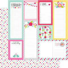 Conversation Hearts 12x12 Paper-Doodlebug Love Notes