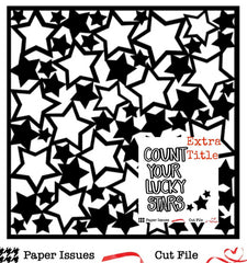Count Your Lucky Stars Free Cut File