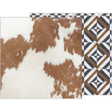 Cowhide 12x12 Paper-Pebbles Jen Hadfield Simple Life