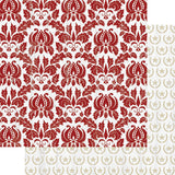 Red Damask/Stars-Teresa Collins Tinsel & Company