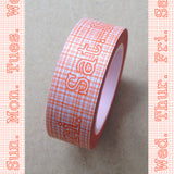 Sketchy Days of the Week Washi Tape