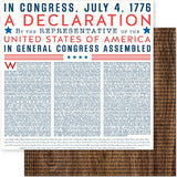 Declaration 12x12 Paper-Pebbles-America The Beautiful