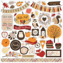 Hello Fall Element Sticker Sheet-Carta Bella