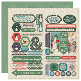 Snowfall Cardstock Elements-Authentique
