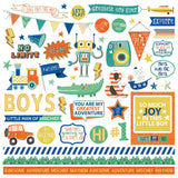 Boys Rule Element Stickers-Photo Play