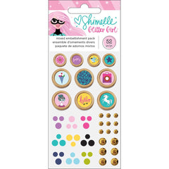 Mixed Embellishment Pack Glitter Girl-Shimelle
