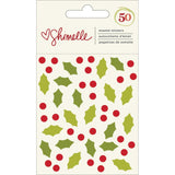 Christmas Magic Holly Enamel Stickers-Shimelle