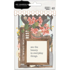 Simple Life Ephemera Die Cuts-Pebbles Jen Hadfield