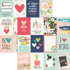 Faith 3x4 Journaling Cards 12x12 Paper-Simple Stories
