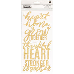 Heart of Home Family Gold Glitter Phrase Thickers-Jen Hadfield