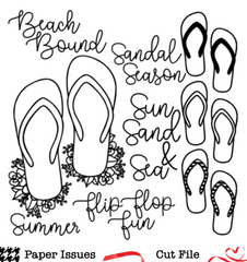 Flip Flop Fun-Free Cut File