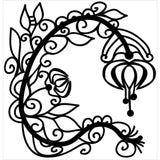 Graceful Flower 12x12 Mask-The Crafter's Workshop Stencils