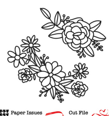 Flowers Abloom- Free Cut File