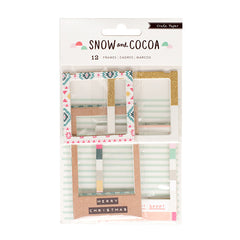 Snow & Cocoa Chipboard Frames-Crate Paper