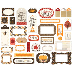 Hello Fall Frames & Tags Ephemera-Carta Bella