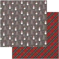 Frosty 12x12 Paper Photo Play Mad 4 Plaid Christmas