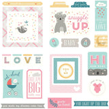 Cardstock Ephemera-Photo Play Snuggle Up Baby Girl