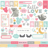 Element Stickers-Photo Play Snuggle Up Baby Girl