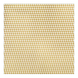 Gold Houndstooth 12x12 Foil Paper Fancy Pants Summer Sun