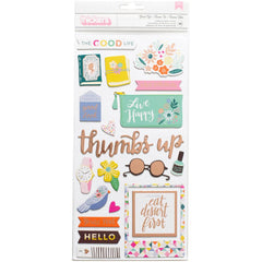 Good Life Accent Thickers-Oh My Heart-Pink Paislee