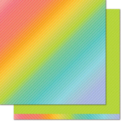 Green Clover 12x12 Paper-Lawn Fawn Really Rainbow