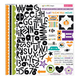 Halloween Magic Treasures & Text 12x12 Stickers Bella Blvd Fundamentals