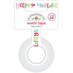 Happy Holidays Washi Tape Milk & Cookies-Doodlebug
