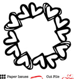 Heart Wreath Free Cut File