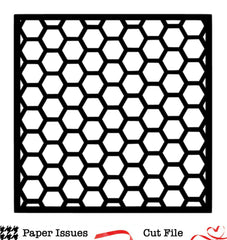 Hexagons Background Free Cut File