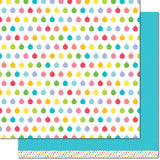 Icy Blue 12x12 Paper-Lawn Fawn Really Rainbow Christmas