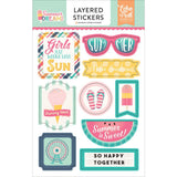 Summer Dreams Layered Stickers-Echo Park