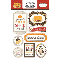 Hello Fall Layered Stickers-Carta Bella