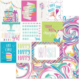 Make A Wish 12x12 Paper Photo Play Cake Rainbow Sprinkles