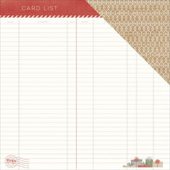 Makin' A List 12x12 Paper-Pink Paislee Yuletide