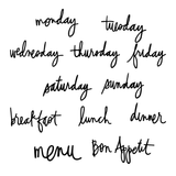 Menu/Days Of The Week-Heidi Swapp Letterboard