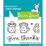 Thankful Mice Clear Stamps-Lawn Fawn