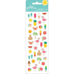 Sunshiny Days Puffy Mini Icons Stickers -Pebbles